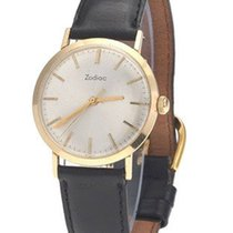 Zodiac Mens Dress Watch - Circa 1960s - 14k Yellow Gold Case -...