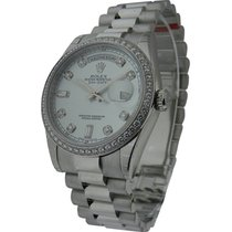 Rolex Unworn 118346 Platinum Day - Date President with Diamond...