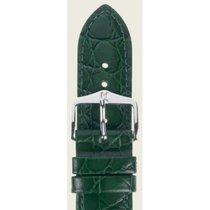 Hirsch Uhrenarmband Leder Crocograin grün M 12302840-2-18 18mm