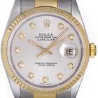Rolex Datejust Men's 2-Tone Diamond Watch 16233