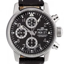 Fortis F-43 Flieger Chronograph Limited Stahl Automatik 40mm