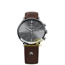Maurice Lacroix Eliros Chronographe Grey Dial, Brown Strap, Date
