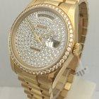 Rolex DayDate Solid 18K Gold Factory Diamond Watch