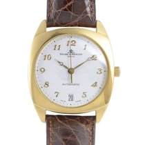 Baume & Mercier Mens Yellow Gold Automatic Watch MOAO6629