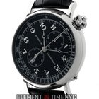 Longines Heritage Avigation Stainless Steel 49mm Black Dial...