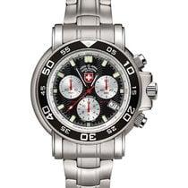 Swiss Military Navy Diver 500 Watch Swiss Ronda Chrono...