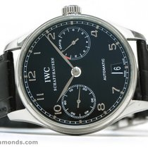 IWC Portuguese 7 Day Power Reserve IW500109 IW5001-09 Black...