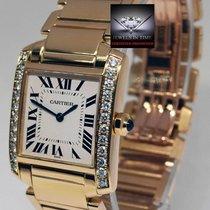 Cartier Tank Francaise Midsize 18k Yellow Gold & Diamonds...