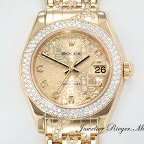 Rolex DATEJUST PEARLMASTER 34 GELBGOLD 750 DIAMANTEN 81338