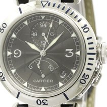 Cartier Polished Cartier Pasha 38 Power Reserve Platinum Bezel...
