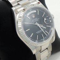 Rolex President Day-date 118239 18k White Gold Box &...