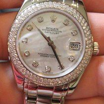 Rolex 81339 White Gold Midsize Pearlmaster Masterpiece Diamond...