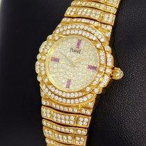 Piaget Tanagra 18k Yellow Gold All Factory Diamond Lady Watch...