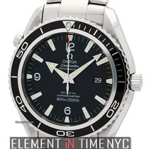 Omega Seamaster Planet Ocean Stainless Steel Black Dial 45mm...