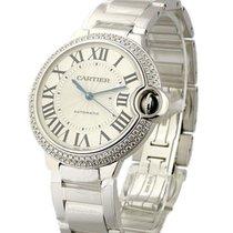 Cartier Ballon Bleu in White Gold with 2 Row Diamond Bezel Mid...
