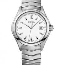Ebel Wave Gent Stainless Steel Bracelet, White Dial, Date