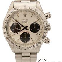 Rolex Daytona 6265 Chrono Steel White Dial Red 1979 Watch