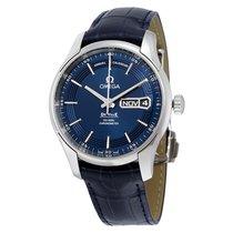 Omega De Ville Hour Vision Blue Dial Blue Leather Strap...