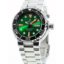 Seiko 40hr Pwr Res Green Dial