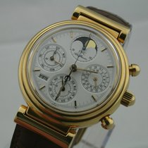 IWC Da Vinci 18ct Gold EWIGER KALENDER Chronograph Box und Papi.
