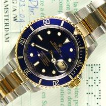 Rolex Submariner 16613 blue steel gold NL B/P 2001