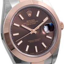 Rolex Rose Gold & Steel 41mm Datejust Chocolate UNWORN Box...