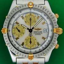 Breitling Chronomat Automatic Mother Of Pearl Gold Steel...