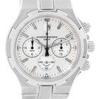 Vacheron Constantin Overseas Chronograph Silver Dial Watch 49140
