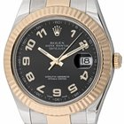 Rolex - Datejust II : 116333 black dial on heavy Oyster...