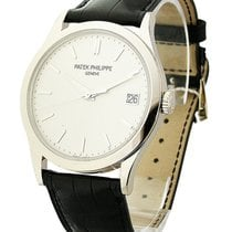 Patek Philippe 5296G-010 5296G Calatrava - White Gold on Strap...