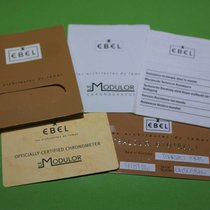 Ebel kit warranty card paper and booklets le modulor 1911 chrono