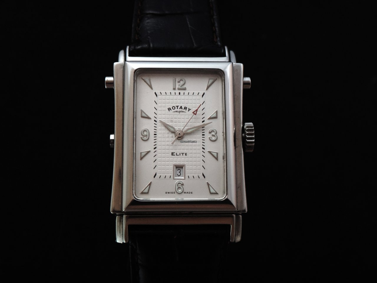 rotary reverso black silver elite men s watch on chrono24