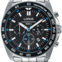 Lorus RT321EX9 Sport Chronograph 46mm silber schwarz blau 100M