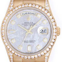 Rolex President Day-Date Men's 18k Gold Watch Meteorite...