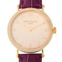 Patek Philippe New  Calatrava 18 K Rose Gold With Diamonds...