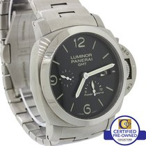 Panerai PAM 347 Luminor 1950 Steel GMT 3 Day Power Reserve Watch