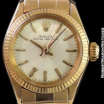 Rolex 6619 Oyster Perpetual 18k Rg Lady's