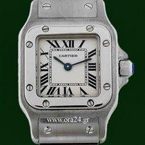 Cartier Santos Galbee Ladies Roman Dial Stainless Steel