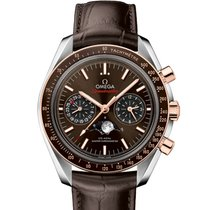 Omega Speedmaster Moonwatch Stainless Steel  Sedna Gold Mens...