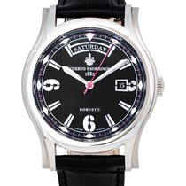 Cuervo y Sobrinos Robusto Day Date Automatic Men's Watch –...