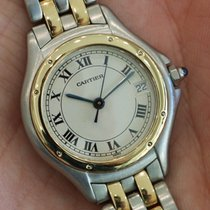 Cartier --- Ladies Cougar 18k Yellow Gold And Stainless Steel...