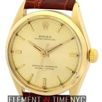 Rolex Oyster Perpetual Vintage 34mm No-Date 14k Yellow Gold...