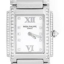 Patek Philippe Ladies  Twenty-4 18k White Gold & Diamond...