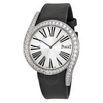 Piaget Limelight Gala Silver Dial Black Satin Strap Ladies Watch