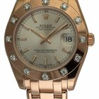 Rolex Datejust Pearlmaster 34 : 81315 silver dial on PearlMast...