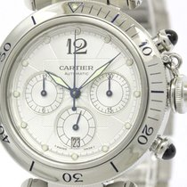 Cartier Pasha Chronograph Steel Automatic Mens Watch W31030h3...