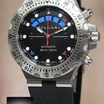 Bulgari Diagono Chronograph Regatta Steel Scuba Watch Box/Book...