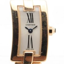 Cartier Ballerina Pink Gold Quartz W/box & Papers Ref...
