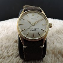 Rolex Oyster Perpetual 14k Yellow Gold Case With Silver Dial...