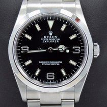 Rolex Explorer I 114270 Stainless Steel Oyster Black Dial...